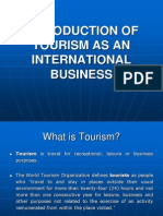 Introduction of Tourism as an International Business