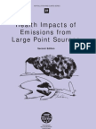 Health Impacts of Emissions From Large Point Sources