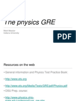Physics GRE Review