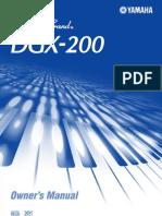 Yamaha DGX 200 E Owner Manual
