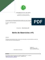 DEE EIV Serie1 Exercicios 2005