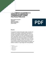 CACCIAMALI et all (1995) Crescimento e emprego, políticas publicas IPEA
