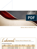 Lakewood Acoustic Guitars Preisliste Int 2013