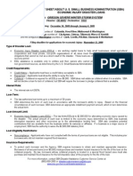 Fact Sheet About u. s. Small Business Administration (Sba)
