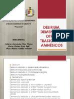 DELIRIUM, DEMENCIA Y OTROS TRASTORNOS AMNÉSICOS