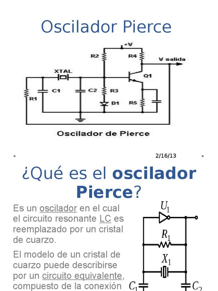 Circuito Oscilador : Oscilador pierce