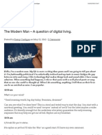 The Modern Man – A question of digital living.