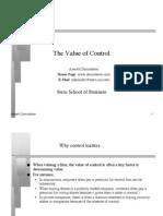Control Value