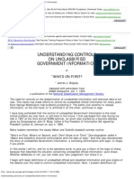 Understanding Controls on Unclassified Government Information
