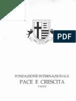 Relazione Tecnico Scientifica Della Fondazione Internazionale Pace e Crescita