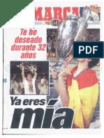 Diario Marca Escaneado-21-Mayo-1998-7ª Copa De Europa-Real Madrid