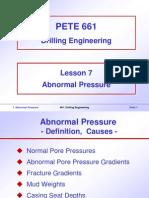Abnormal Pressure