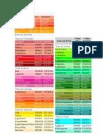 Tons de Laranja E ROSA RGB