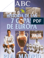 Real Madrid - Coleccionable ABC - Historia de Las 7 Copas de Europa
