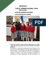Entrevista Al Alcalde de Urrao Luis Eduardo Montoya Urrego
