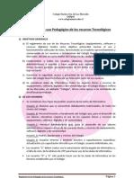 Reglamento de Uso Pedagogico de Los Recursos Tecnologicos