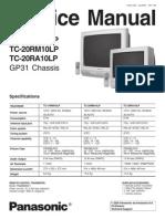 7545347 Panasonic TC20RM10LP Chasis GP31 Service Manual