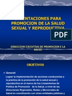 Eje Tematico Salud Sexual y Reproductiva TOE