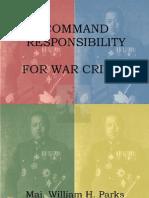 Command Responsibility for War Crimes - Parks V7.130216