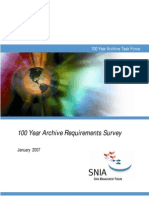 100 Year Archive Requirements Survey
