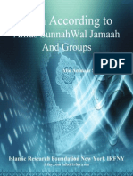 Iman According To Ahlus Sunnah Wal Jamaah And Groups