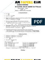 13624660 ICSE Maths Important Formulas