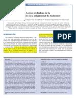 Acción protectora de la proteína tau en la enfermedad de Alzheimer