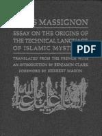 Massignon  Essay on the Origin of the Technical Language of Islamic Mysticism-Louis Massignon