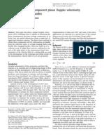Instantaneous Three Components Planar Doppler Velocimetry Using Fibre Bundles