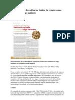 Determinación de calidad de harina de cebada como sustituto de trigo harinero