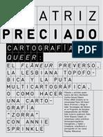 Beatriz Preciado Cartografias Queer