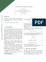 VERY VERY VERY - The Origin of the Planck's Constant