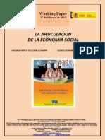 LA ARTICULACIÓN DE LA ECONOMIA SOCIAL (Es) ORGANIZATION OF THE SOCIAL ECONOMY (Es) GIZARTE EKONOMIAREN EGITURAKETA (Es)