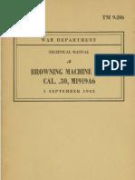 TM 9 206 Browning Machine Gun Cal 30 M1916A6 1943