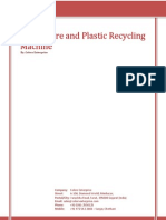 Waste Tyre and Plastic Recycling Machine