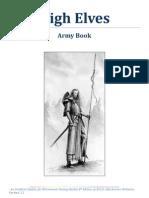High Elves 8th Edition Army Book