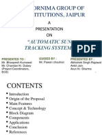 Automatic Sun Tracking System PPT