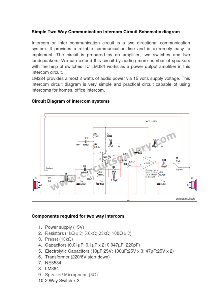 M Amp S Intercom Wiring Diagram on