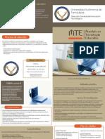 m. Tecnologia Educativa Diptico