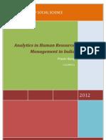 HR Analytics in India