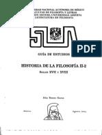 Guia de Historia de La Filosofia Siglos XVII y XVIII