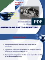 AMENAZA DE PARTO PREMATURO 2012.pptx
