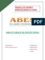 Project on Women Enterpreneurship in India