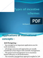 Types of Incentive Schemes