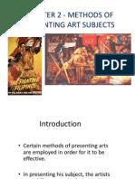 Methods of presenting art subjects
