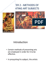 Methods of presenting art subjects