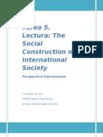 La Construcción Social de la Sociedad Internacional