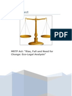 "MRTP Act ""Rise, Fall and Need for     Change Eco-Legal Analysis"""
