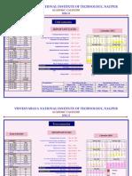 VNIT Acad Calendar 2012-13