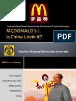 MC Donalds in China